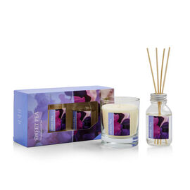 WAX LYRICAL 2 Piece Set - Sweet Pea Reed 100 ml Diffuser & 190g Candle Gift Set