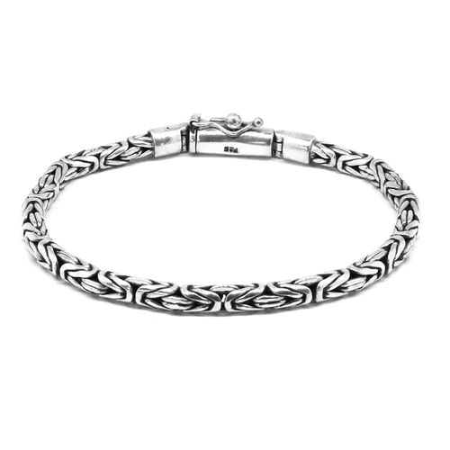 Royal Bali Collection Sterling Silver Hand Made Borobudur Bracelet (Size 8), Silver wt 24.11 Gms.