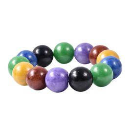 Super Auction - Multi Colour Jade (Rnd 17-19mm) Bracelet 690.00 Ct.
