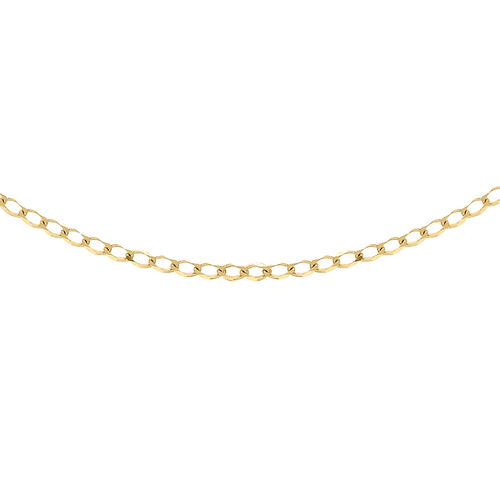 Curb Chain Necklace in 9K Yellow Gold 20 inch