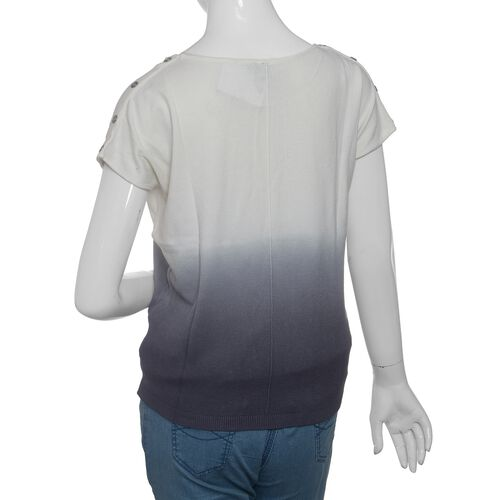 Close Out Deal Off White and Grey Colour Apparel- XL
