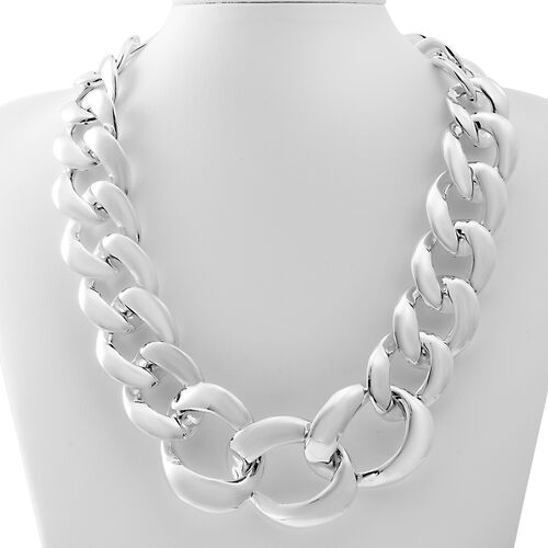 Designer Sterling Silver Curb Necklace (Size 20), Silver wt 76.50 Gms.