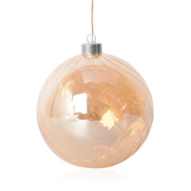 Translucent Ball Gold LED Light (Size 15 Cm)