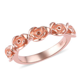 Rose Gold Overlay Sterling Silver Rose Ring