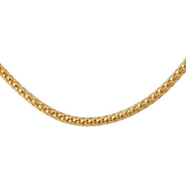 Yellow Gold Overlay Sterling Silver Chain (Size 20), Silver wt 3.50 Gms