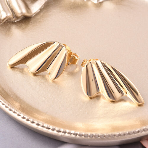 LucyQ Stud Earrings in Yellow Gold Plated Sterling Silver