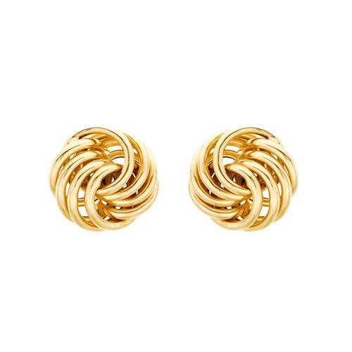 Knot Stud Earrings in 9K Yellow Gold