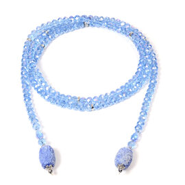 Monster Deal - Blue Shell Pearl and Multi Gemstone Necklace (Size 60)