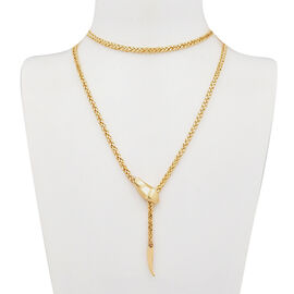 Italian Made- 9K Yellow Gold Adjustable Spiga Chain (Size 22), Gold Wt 8.80 Gms