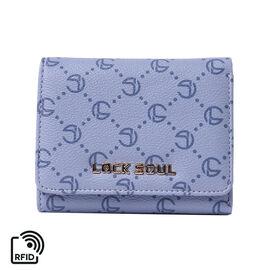 LOCK SOUL Three-Fold RFID Wallet - Blue