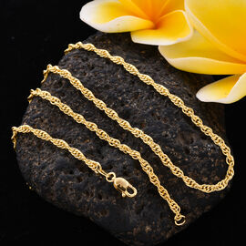 ILIANA 18K Yellow Gold Special Rope Necklace (Size 20), Gold Wt 5.05 Grams