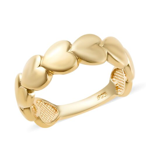 14K Gold Overlay Sterling Silver Heart Ring