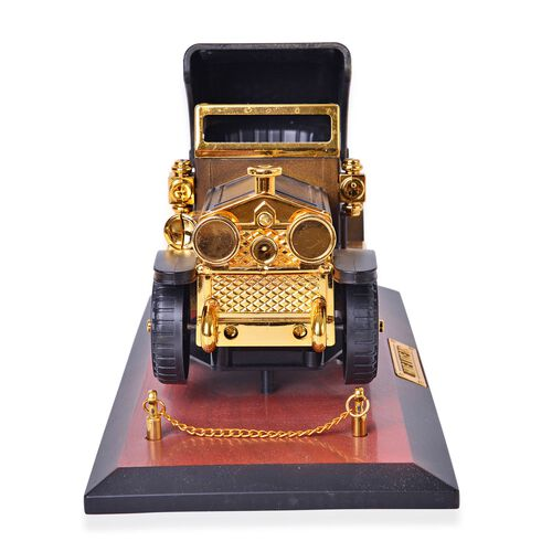 Home Decor - Golden and Brown Colour Moving Vintage Car Design Music Box (Size 24.7X14X12 Cm)