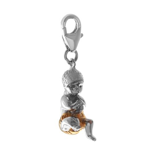 Platinum and Yellow Gold Overlay Sterling Silver Charm