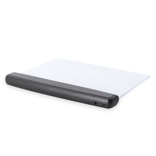 Ultra Slim Book Light and Magnifier (Size 17x14.5 Cm)