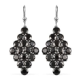 9.50 Ct Elite Shungite Cluster Drop Earring in Platinum Plated Silver