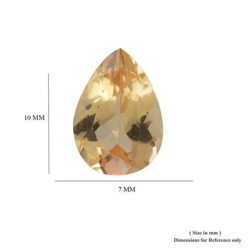 AA Imperial Topaz Pear 9.99x7.21x4.82 Faceted 1.95 Cts