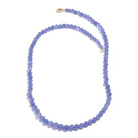 ILIANA 100 Ct Extremely Rare Tanzanite Beaded Necklace in 18K Gold 18 Inch
