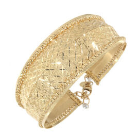 Diamond Cut Cuff Bangle in 9K Yellow Gold 15.80 Grams 7 with 1.5 inch Extender