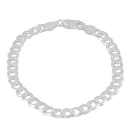 Made in Italy - Sterling Silver Bracelet (Size 7.5), Silver wt 7.14 Gms