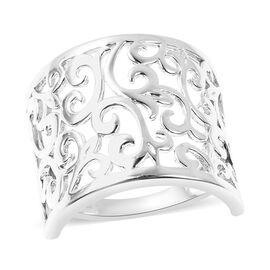LucyQ - Filigree Ring in Rhodium Overlay Sterling Silver
