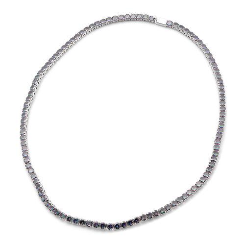 Christmas Special Deal- Simulated Rainbow Multi Colour Gemstone Tennis Necklace (Sze 18)