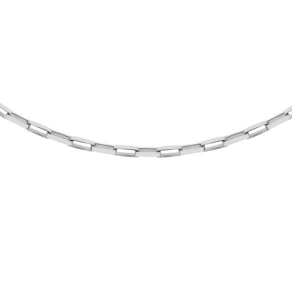Sterling Silver Square Paper Chain (Size 16) with Spring Ring Clasp