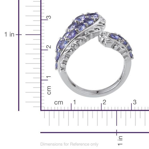 Tanzanite (Rnd) Ring in Platinum Overlay Sterling Silver 2.250 Ct.