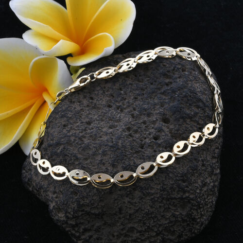Super Auction- Royal Bali Collection 9K Yellow Gold NYEPI Bracelet (Size 8).Gold Wt 2.82 Gms