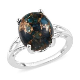 5.50 Ct Neon Apatite Solitaire Ring in Silver