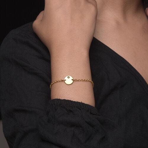 Personalise Engraved Initial Birthstone Bracelet