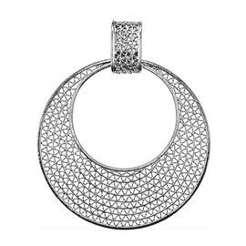 Royal Bali Collection - Sterling Silver Open Work Circular Pendant