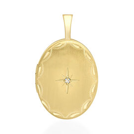 9K Yellow Gold Ovl Locket