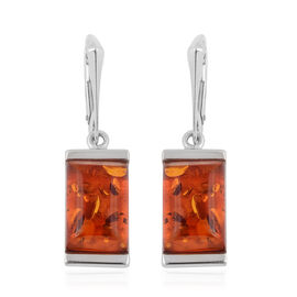 Baltic Amber Earrings (With Lever Back) in Sterling Silver