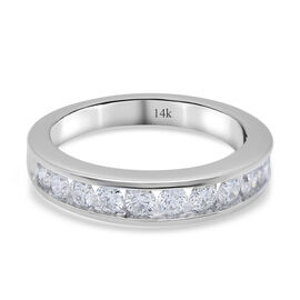 NY Close Out Deal - 14K White Gold Diamond (VS-SI/F-G) Ring in 0.75 Ct, Gold wt. 4.30 Gms