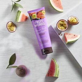 FruitWorks: Passion Fruit & Watermelon Body Scrub (With Rosehip & Vitamin E) - 238ml
