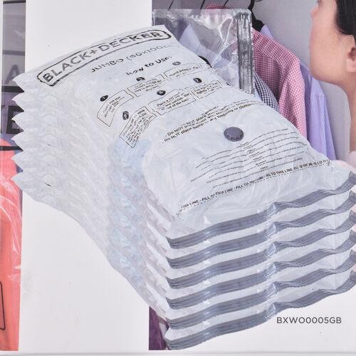 Black+ Decker Pack of 6 Vaccum Storage Bag (60x100cm) - Jumbo