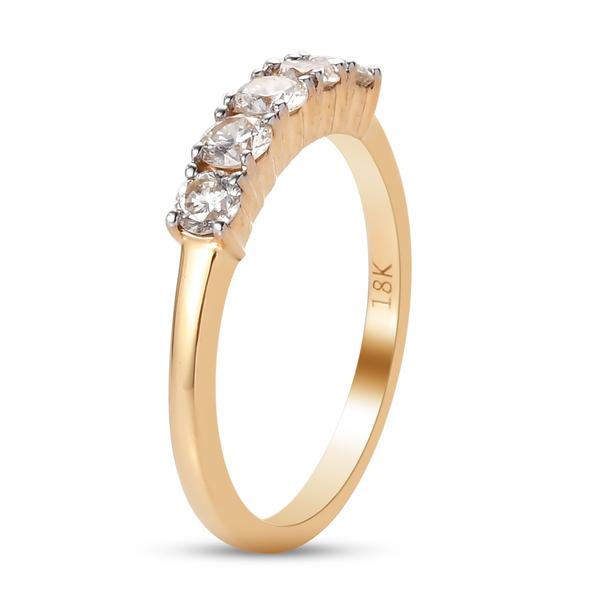 ILIANA 18K Yellow Gold IGI Certified Diamond (SI/ G-H) Ring 0.50 Ct