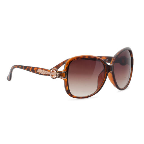 Designer Inspired Leopard Print Fashion Sunglasses for Women - Yellow and Brown