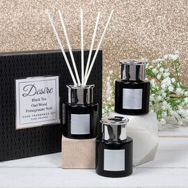 Lesser & Pavey - Set of 3 Desire Diffuser Set - Black - Black Tea, Oud Wood and Pomegranate Noir