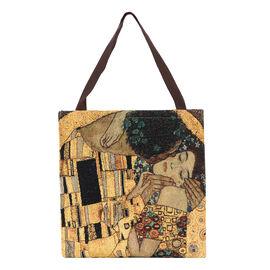 SIGNARE-Tapestry Collection - Klimt Gold Kiss Art Shoulder Tote Bag ( 37 x 36 x 6 Cms )