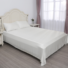 SERENITY NIGHT 4 Piece Set - 100% Bamboo Sheet Set (Includes Flat Sheet Fitted Sheet and 2 Pillowcases) - Snow White