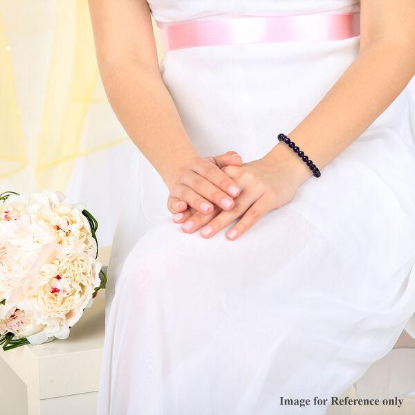 MP Amethyst Beads Stretchable Bracelet (Size 7) 90.0 Ct.