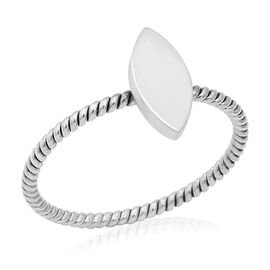 Artisan Crafted Sterling Silver Marquise Ring