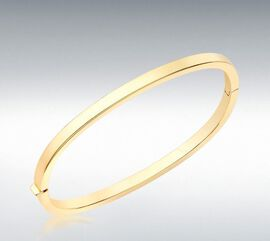 Hatton Garden Close Out 9K Yellow Gold Bangle (Size 7.25), Gold wt 6.80 Gms.