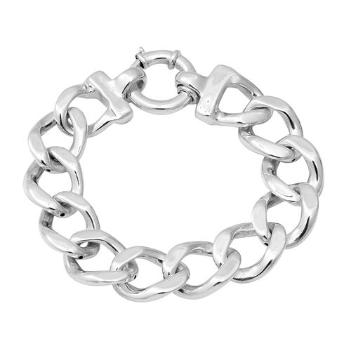 Cuban Link Chain Bracelet in Silver 22.57 Grams 8 Inch