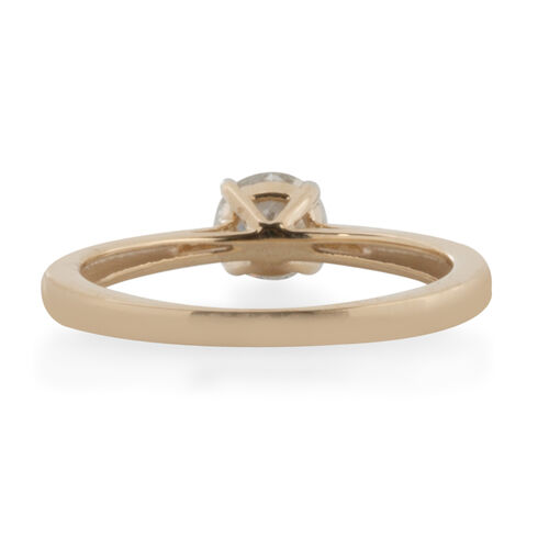 9K Yellow Gold SGL Certified Diamond (Rnd) (I3/G-H) Solitaire Ring 0.500 Ct.