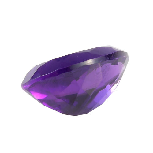 AAA African Amethyst Pear 14.22x10.19x6.86 Faceted 4.23 Cts