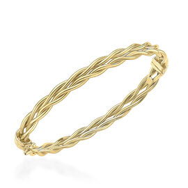9K Yellow Gold Twisted Bangle (Size 7), Gold Wt. 4.3 Gms