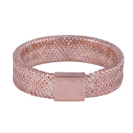 Italian Made - 9K Rose Gold Stretchable Ring (Size Medium) (Size L to P)